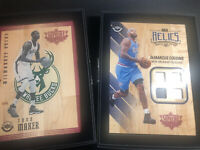 2016-17 UpperDeck Supreme Hard Court DeMarcus Cousins Quad relic & Thon Maker GU