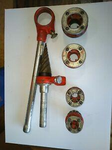 Ridgid pipe threader die set