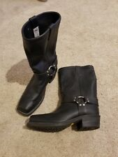 CHIPPEWA 27868 Black Leather Harness Motorcycle Biker Boots Men's Size 11 EE