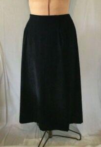 Briggs Black Faux Suede Size 18W Skirt, Long, Split on Back