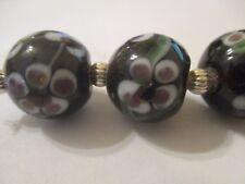 12  Lampwork Flower Floral Glass Beads 16.5x15 mm    XIU
