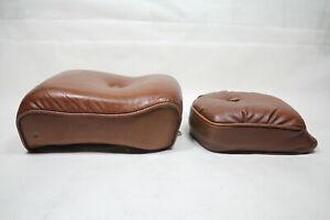 brown Harley FXR passenger & sissy bar pads FXRC seat FXRD FXRT FXRP EPS23444