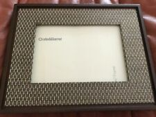 "New Crate & Barrel 5x7"" Wooden Picture Frame w/ Glass Shelf Desk , Excellent Con"