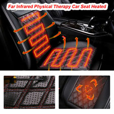 Universal 12V Carbon Fiber Heated Car Seat Heater Chair Cushion Warmer Cover Pad