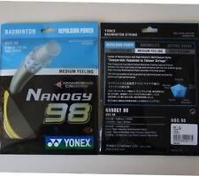 5 pkts YONEX Badminton Nanogy 98 String NBG-98 Yellow, 10 m