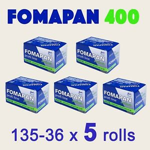 FOMA Fomapan 400 'Action' B&W 135/36 x 5 rolls