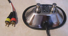 Chrome Fender Style Dual Button Footswitch with RCA plugs