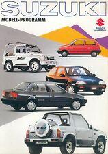 Suzuki Prospekt 1989 SJ Samurai Vitara Swift brochure