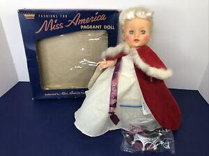 "10.5"" Vintage Sayco All Original ""Miss America"" Platinum Blonde W/ Box Doll #O"