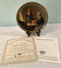 """Vtg Norman Rockwell Collector Plate """"A Family's Full Measure"""" Limited Ed #1962A"""
