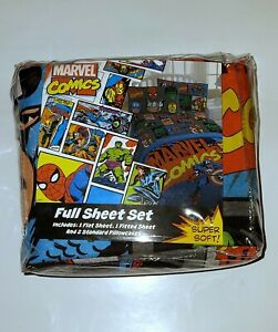 NWT Marvel super heroes Full Sheet Set