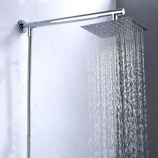 Cabeza de ducha cuadrada acero inoxidable brazo manguera entrada inferior cromo