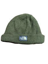 The North Face Men's Beanie Salty Dog Cedar Green-ish Brown Hat Cap Winter Ski