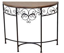 Konsole Tisch Konsolentisch Wandtisch Beistelltisch Metall antik-braun
