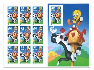 USA 1998 Sylvester & Tweety Booklet of Ten 32C Stamps Normal Diecut MUH (5-15)