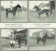 Prince Alexander of Teck Ranelagh Polo Eaton v Tigers 1912 Photo Article B774