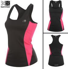 Ladies KARRIMOR Running Vest/Top Black/Pink - Gym - Womens - Reflective - Size 6