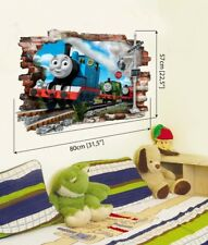 Thomas Zug Train Wandtattoo 3D thomas the tank Wandaufkleber Kinderzimmer 80x57