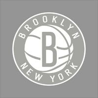 Brooklyn Nets #2 NBA Team Logo 1Color Vinyl Decal Sticker Car Window Wall