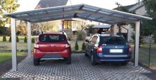 Ximax Carport Linea Kombi. Typ 60 M-Ausführung Edelstahl-Look L 4,95 x B 5,46 m
