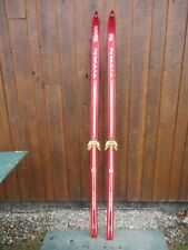 """New listing Beautiful Old Vintage Wooden 77"""" Snow Skis Has Red Finish Great Decoration"""