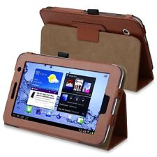 Leather Case for 7-Inch Samsung Galaxy Tab 2 P3100/P3110 brown R2K3