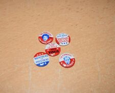 Lot of 5 Vintage Archie Bunker Campaign Buttons Archie for President NOS