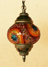 Single Chandelier Handmade Mosaic Hanging Lamp Light Ceiling Stained Glass (3)