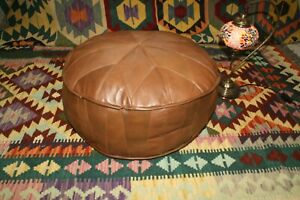 Stunning Turkish Leather Ottoman Pouffe Pouf Footstool WİTH OUT FİLLİNG EMPTY