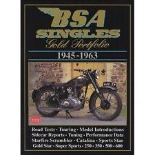 BSA Singles Gold Portfolio 1945-1963 book paper
