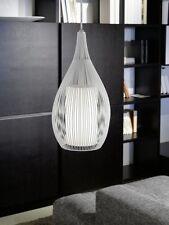 Design pendant light white hanging lamp glass ceiling light living room 55185