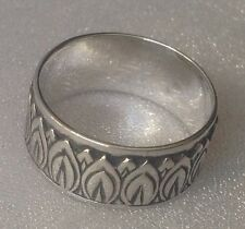 Beautiful Sterling Victorian Style Repousee Ring Size 7.5, 9, & 10, Konder #524