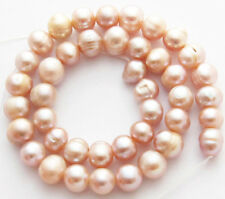 "Freshwater Pearl Light Pink Mauve 9-10mm Potato Round Loose Beads 15"" Strand W97"