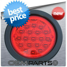 """1X NEW 4"""" ROUND TRUCK TRAILER RED LED LIGHT STOP TURN TAIL 19-DIODE 12v USA RV"""