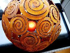 Kugel Spirale D.28 Skulpturen Metall Rost Gartenfiguren Floristik Edelrost Deko
