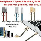 Ring Charging Cable for iPhone 7/ 7 Plus Charger Cable Fast Charging Data Sync
