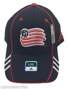 NWT MLS New England Revolution Adidas Structured Flex Fit Curve Brim Cap Hat NEW