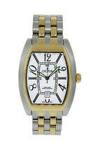 Croton CR307157TTWA Men's Tonneau Analog Date Stainless Steel Gold Tone Watch
