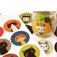 18x/lot Cat&Doll Paper Sticker Decoration Decal DIY  Kawaii Stationery GiftsjVG