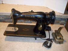 705 Singer Sewing Machine Simanco 125255 Model No.8 Series AL509665 Vintage USA