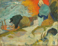 Washerwomen In Arles Paul Gauguin Wall Painting Print on Canvas HQ Giclee Small