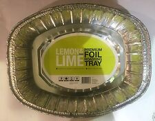 10x Large Oval Premium Foil Tray  Disposable Takeaway BBQ Roasting Foil Trays