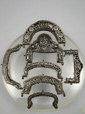 Collezione di 7 antiche cerniere da borsetta in argento
