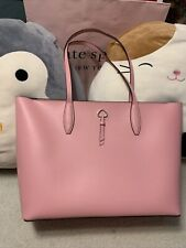 KATE SPADE ADEL LARGE TOTE SHOULDER BAG CARNATION PINK LEATHER LAPTOP SATCHEL