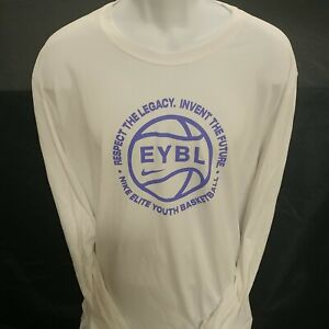 Nike Nationals EYBL White (with Purple) LS Dri-Fit Shirt**BRAND NEW**-XL