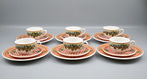 6 Mokkagedecke Rosenthal Versace Casual ivy leaves passion.