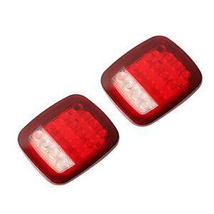 2 pièces 16LED feu stop arrière blanc + rouge pour Jeep Wrangler JK TJ YJ