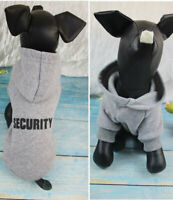 Puppy Chihuahua Sweatshirts Dog Security Pet Clothes Sweaters Printed Hoodies