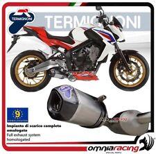 Termignoni RELEVANCE escape completo titanio aprobado Honda CB650F 2014>2016
