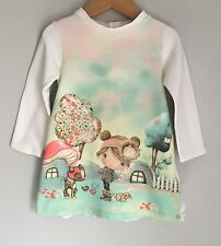 Mayoral Baby Girls Sweater Dress Size 18-24 Months Cute Deer Mushroom Bunny Bird